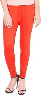American-Elm Women's Cotton Viscose Ankle Length Legging- Dark Orange