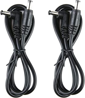 2 Pack Guitar Effect Pedal DC Cable 5.5mm x 2.1mm Power Lead Cord, 60CM Male to Male