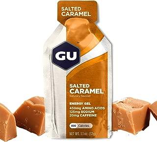 GU Energy Original Sports Nutrition Energy Gel, Salted Caramel, 8 Count Box