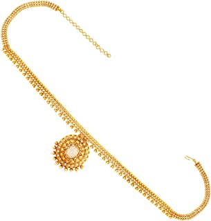 ACCESSHER Traditional Golden & White Kamarband