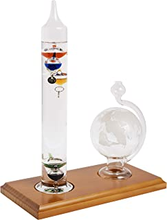 AcuRite 00795A2 Galileo Thermometer with Glass Globe Barometer, Barometer Set