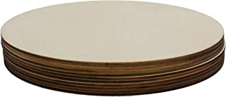 (10 Pack) Blank Circle Round Wood Round Plaque for Crafts Painting Wood Burning Engraving Machine Unfinished and Unpainted Wooden Cutout 8
