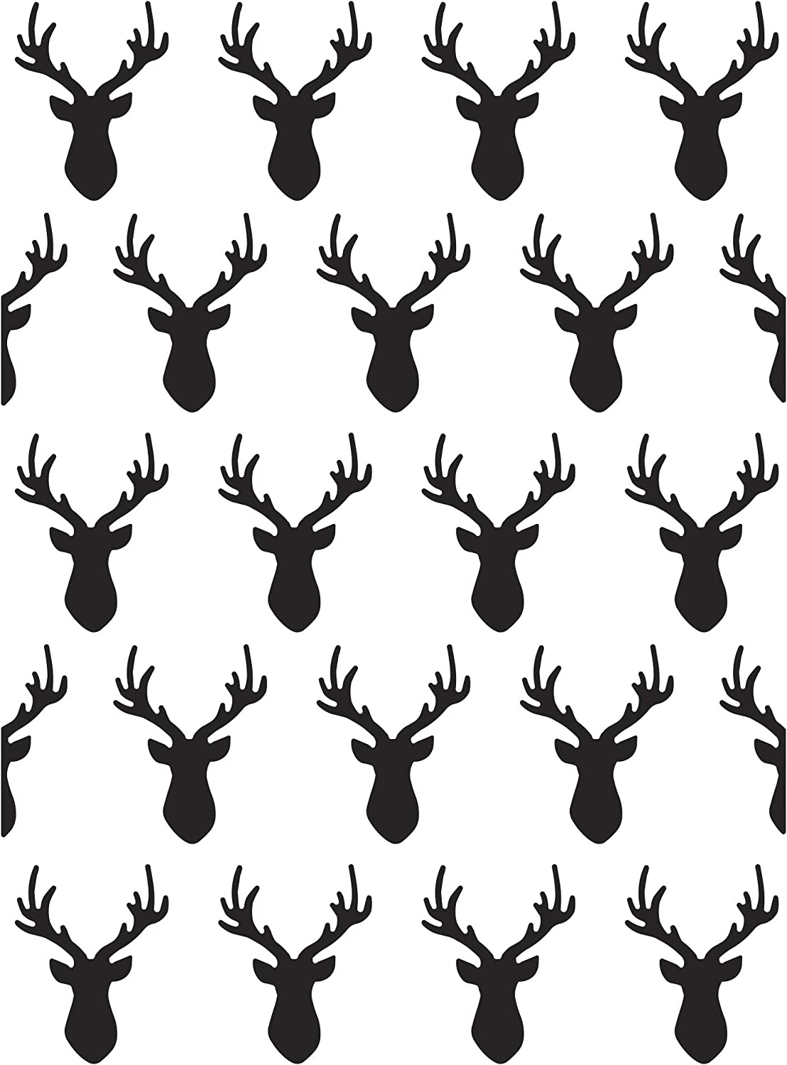 Darice Deer Heads 4.25 Max 43% OFF x 5.75 inches Clear Embossing National products Folder