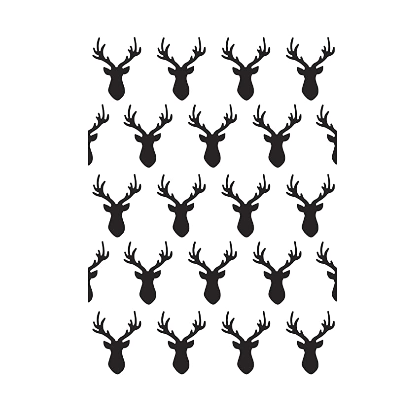 Darice Deer Heads, 4.25 x 5.75 inches Embossing Folder, Clear
