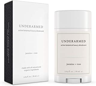 Natural Aluminum-Free Deodorant Stick (That Works) Jasmine/Rose - Stay Fresh All Day - Underarmed for Women & Men - Organic, Healthy, Safe, Non Toxic - Phthalate, Paraben, Gluten & Cruelty Free
