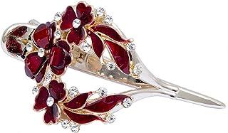 Flower Hollow Heart Hair Clip Barrette Accessories Women Fashion Rhinestone Hairpin Headwear