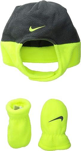 74c3d4eee Nike Kids Swoosh Pom Beanie Gloves Set (Little Kids/Big Kids ...