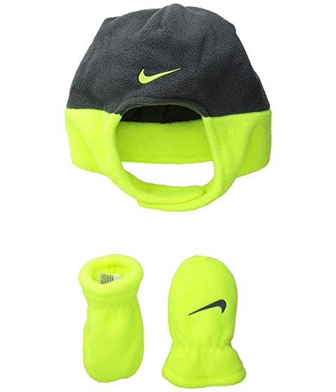 b75000612a7 Nike Kids Swoosh Baby Trapper Cap   Mitt Set (Infant Toddler) at ...