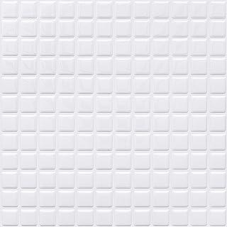 APSOONSELL モザイクタイルシール 【2枚】 DIY 壁紙シール 白 3D タイルシール 洗面所 キッチン 防水 ステッカー 壁紙 はがせる KBMS-39W