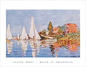 Boats at Argenteuil by Claude Monet - Art Print / Poster 11x14 inches