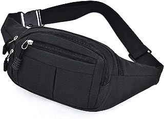 WSLCN Waist Bag Bum Bag Running Belt Lightweight Running Pouch Elastic Waist Packs Cycling Bum Bag A