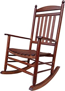 Rocking Rocker-A040NT Natural Wood Porch Rocker/Rocking Chair -Easy to Assemble-Comfortable Size-Outdoor or Indoor Use
