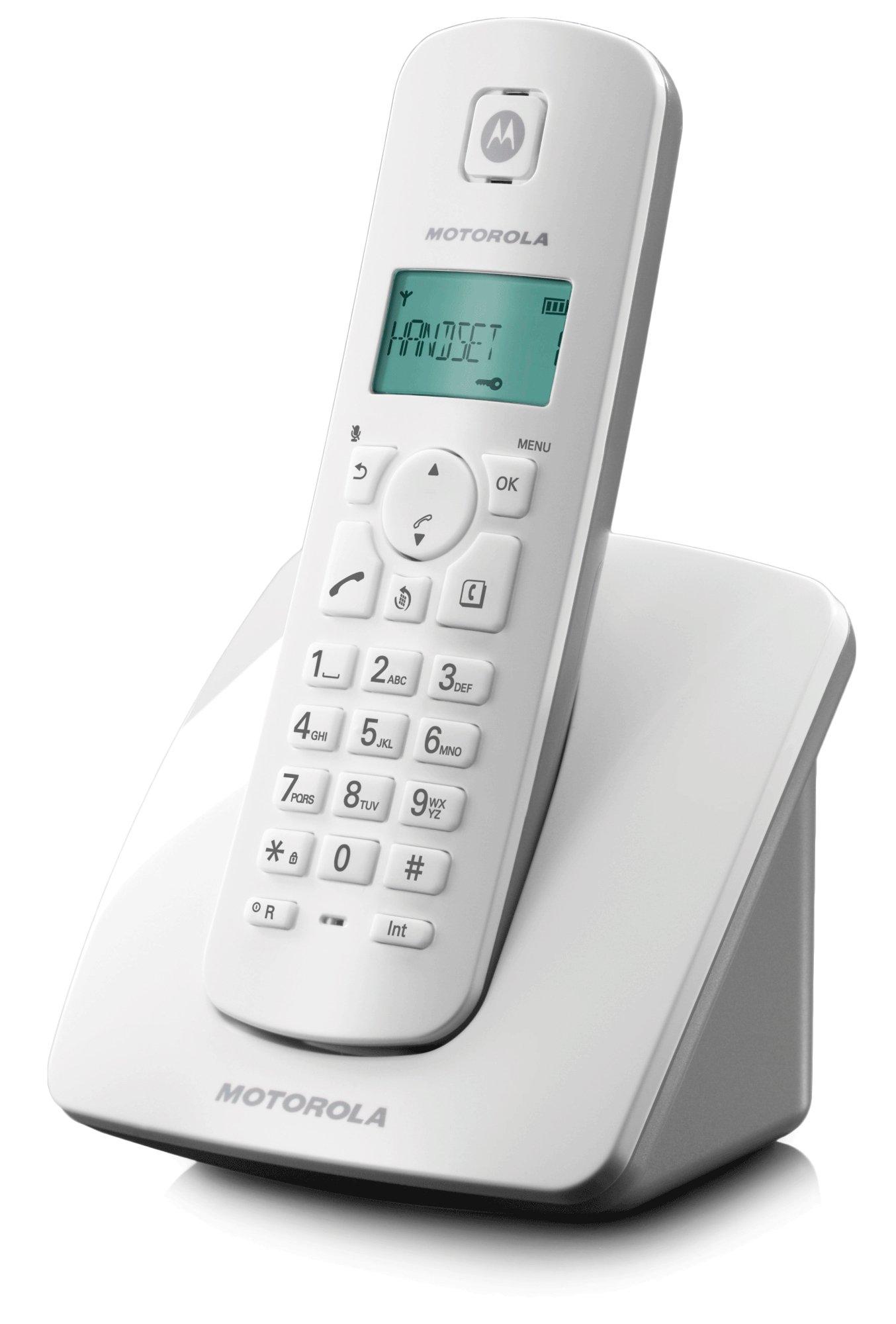 Motorola C401E - Teléfono Fijo Digital (inalámbrico), Blanco: Amazon.es: Electrónica