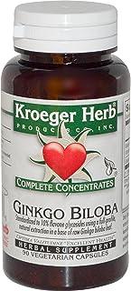 Kroeger Herb Ginkgo Biloba - 90 Vegetarian Capsules