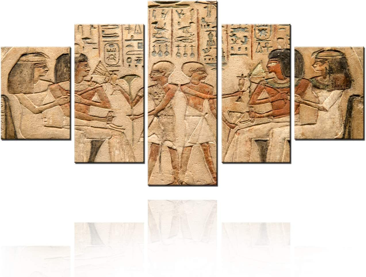 Multi Panels Wall Art Ancient Egyptian Gods Pict Philadelphia Recommended Mall and Hieroglyphs