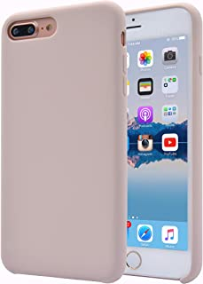 Alphacell iPhone 8 Plus / 7 Plus (Only) Silicone Case | Soft Slim Gel Rubber | Protective Phone Cover with Microfiber Lining for Apple iPhone 8 Plus and iPhone 7 Plus | Beige