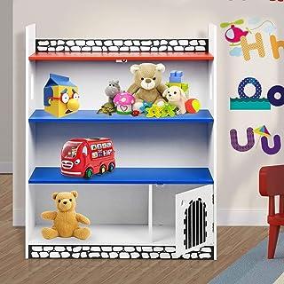Estantería de madera, con diseño de castillo, para libros, juegos y juguetes Castillo.