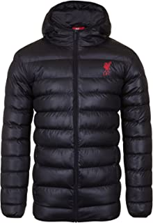 Liverpool FC Official Soccer Gift Mens Quilted Hooded Winter Jacket