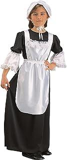 RG Costumes Pilgrim Girl Costume, Black/White, Large