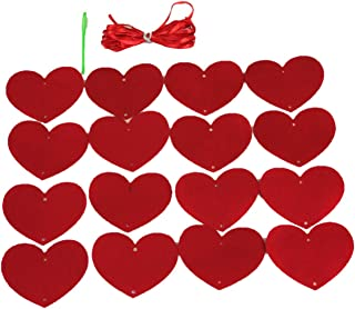 Matissa Guirnalda de papel para colgar corazones rojos boda fiesta de San Valentín baby shower decoración (3 unidades)