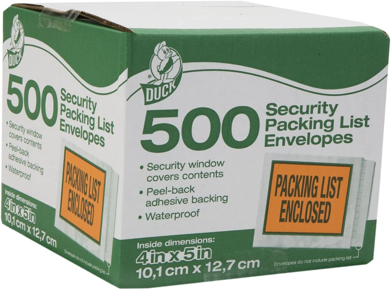 Duck Brand Security View Packing 4.5-Inch List Max 48% OFF x Ranking TOP11 Envelopes 5.5