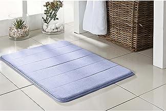 Tapete de Banheiro Super Soft Camesa Azul 60cmx40cm Poliester