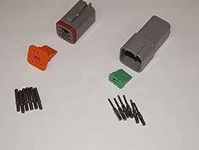 Deutsch DT Series 6 Pin Connector Kit w/Barrel Style Terminals 16-20 AWG