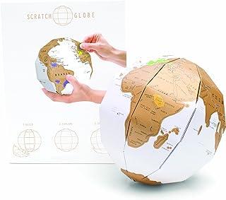 Carte à gratter Globe 3D - Carte de voyage Globe World personnalisée - Scratch Off Map - Sphère à gratter amusante et colo...