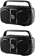AudioPipe AP-PRT-B1 Portable Wireless Bluetooth Speaker Compatible with MP3, Phone, & Aux (2 Pack) photo