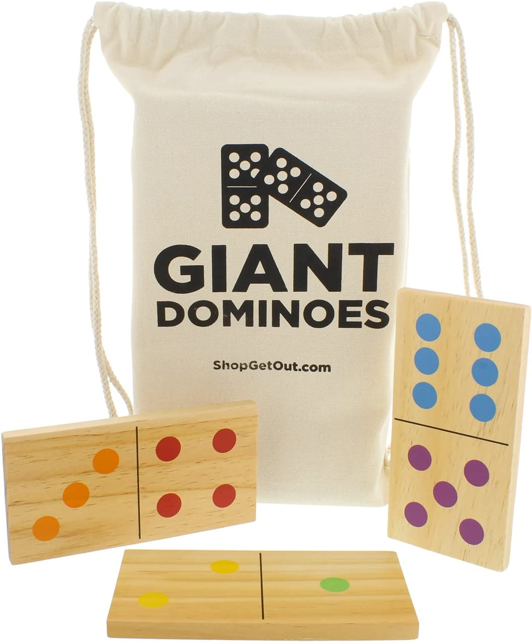 Get Out Giant Wooden Dominoes Cheap super special price 28-Piece with New item – Set Bag Jumb