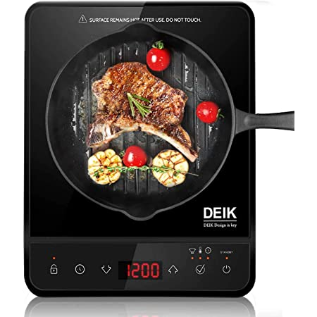 Deik - Placa de inducción eléctrica portátil Full Crystal ...