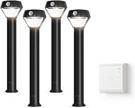Introducing Ring Solar Pathlight - Outdoor Motion-Sensor Security Light, Black (Starter Kit: 4-pack)