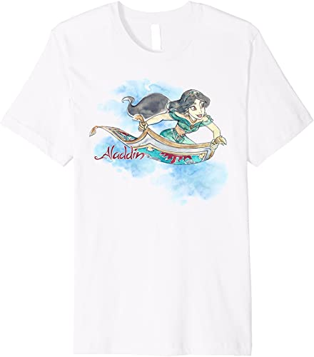 Disney Aladdin Jasmine Magic Ride WaterCouleur Premium T-Shirt