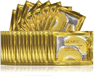 25 Paar 24K Gold-Pulver-Gel-Kollagen-Augenmaske, Kollagen Augenpads - Die Feuchtigkeit spendende Anti Falten Augenmaske gegen Augenringe & Fältchen Anti Aging