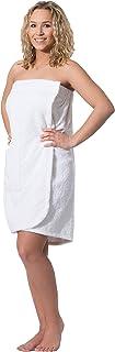 ZOLLNER paréo de Sauna pour Femme, Coton, Blanc L/XL (Autres Disponibles)