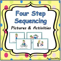 Four Step Sequencing Pictures and Activities: First, Next, Then, Last, Language Practice for Speech Therapy