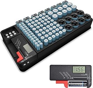 Kwasyo Testeur de Batterie et Organisateur de Stockage de Batterie, 110 Cas de Grandes,..