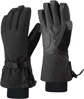 Andake 90% Duck Down Ski Gloves Women Cold Weather Winter Snow Gloves For Skiing Snowboarding