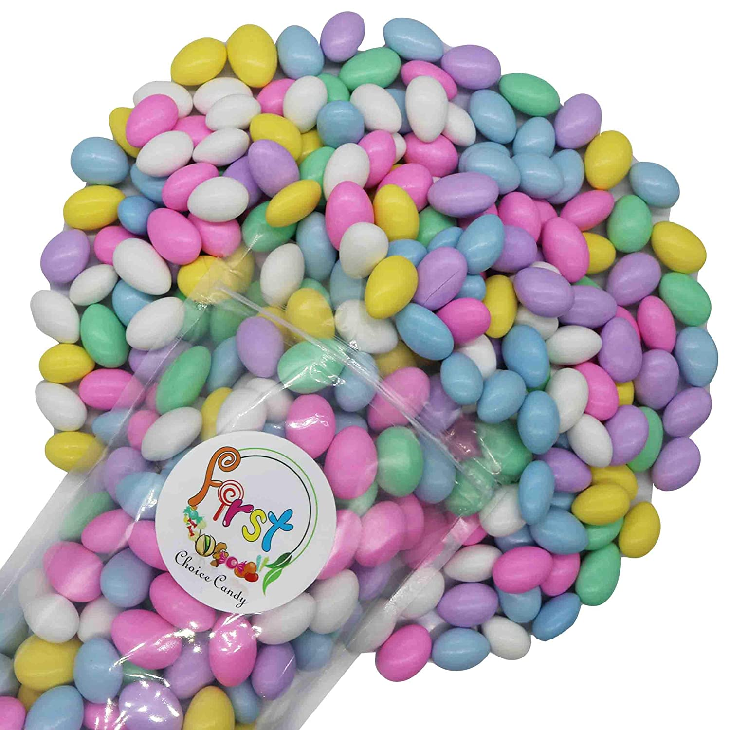 FirstChoiceCandy Jordan Almonds Jacksonville Mall 10 Pound Color Assorted Pastel Max 76% OFF