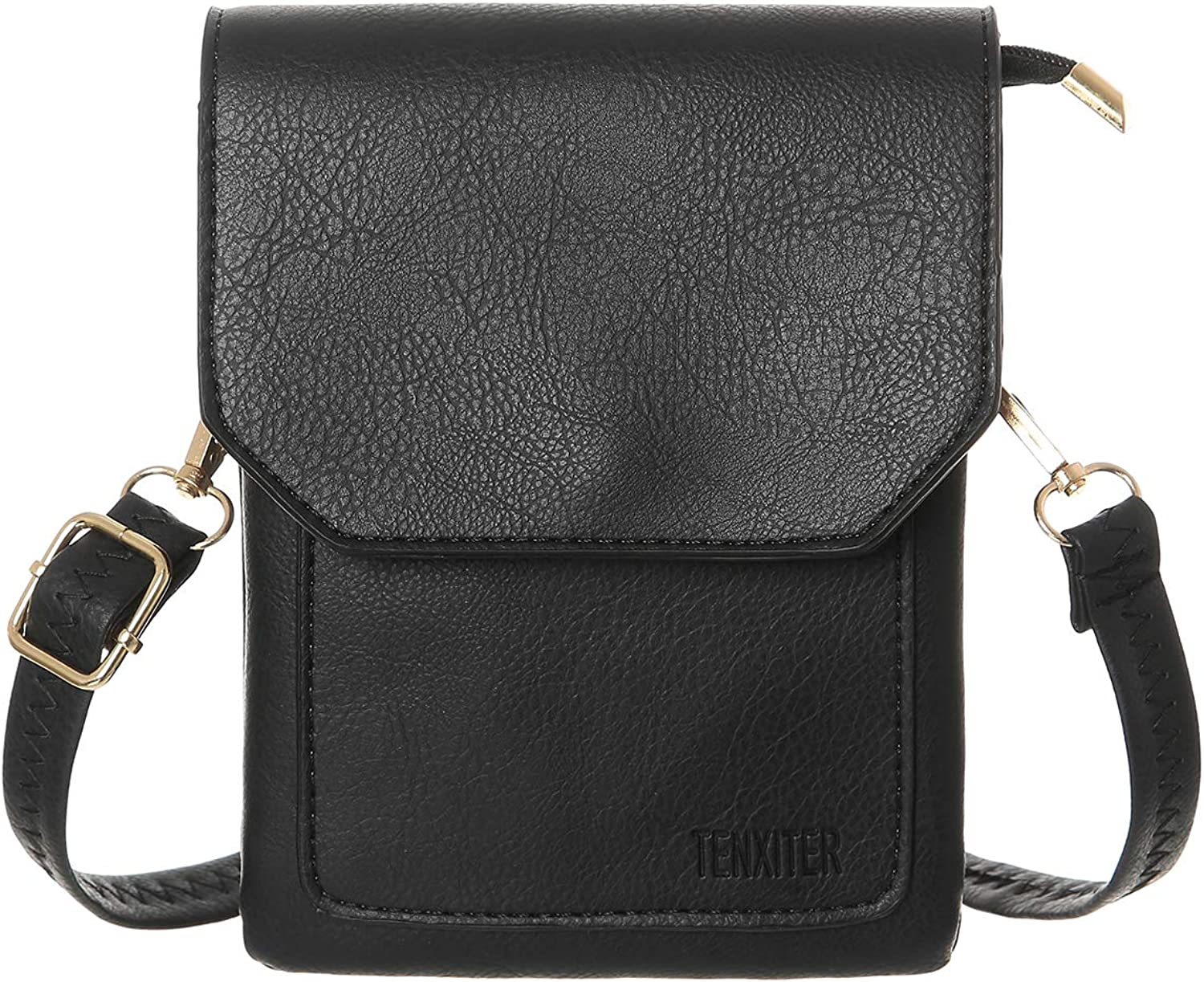 TENXITER Womens Leather Small Crossbody Bags Cell Phone Wallet Purse Bag for Women