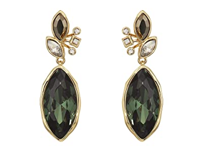 Alexis Bittar Navette Crystal Cluster Drop Post Earrings (10K Gold) Earring