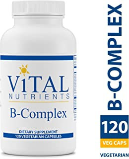 Vital Nutrients - B-Complex - Balanced High Potency B Vitamin Complex - Supports Energy Production, Metabolism and Heart Health - Gluten Free - 120 Vegetarian Capsules per Bottle