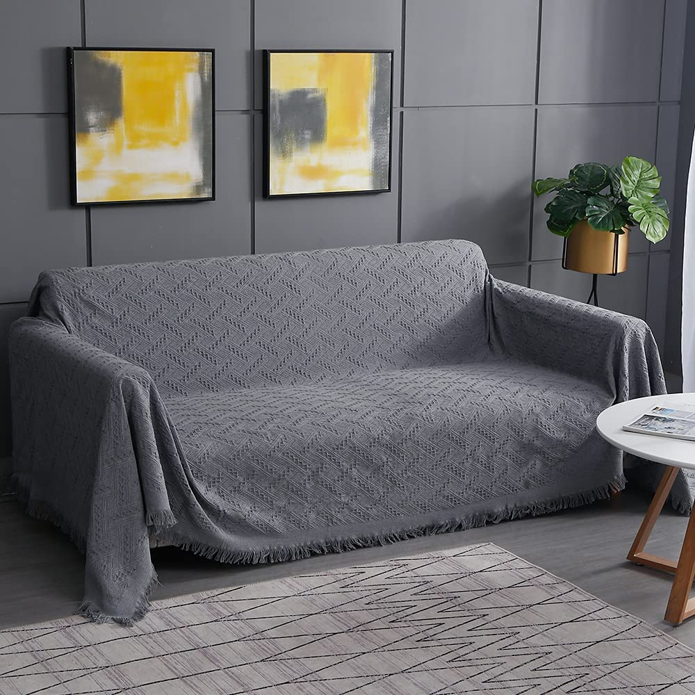 Hviwvajf Sofa Challenge the lowest price Cover Geometrical Couc Selling rankings Slipcover Knit Cotton