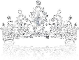 Delleu Strass Cristal Mariage diadème Couronne Peigne Princesse Pageant Couronne Couronne d'argent