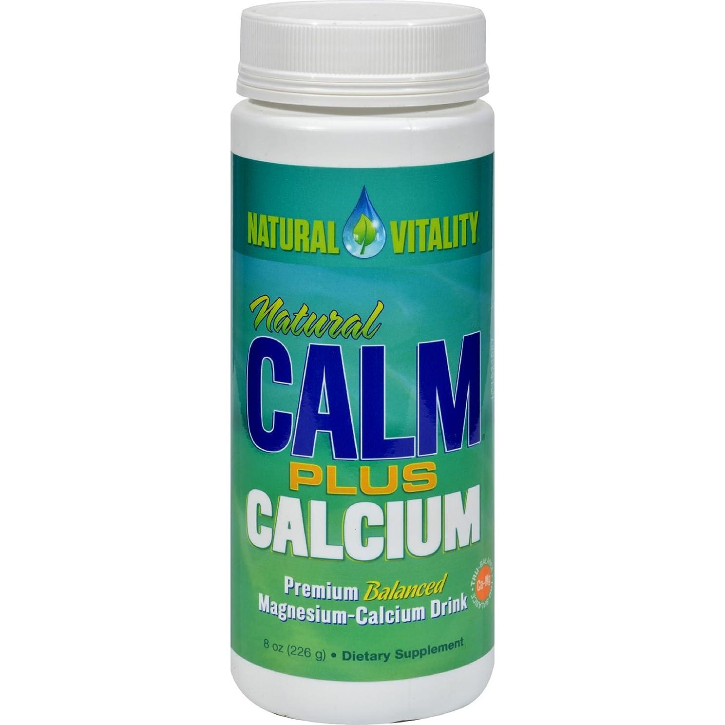 質素な質素な食事Natural Magnesium Calm Plus Calcium - 8 oz by Natural Vitality