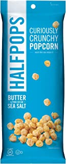 Halfpops Popcorns, Butter and Pure Ocean Sea Salt, 4.5 Ounce (Pack of 12)
