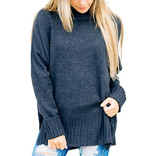 e6f0874b99a Dokotoo Womens Loose Oversized Casual Turtle Neck Sweater Pullover Top