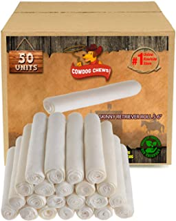 5-6 Inch Skinny Retriever Roll - Chewing Dog Treat for Small Dogs, 100% Natural – Grass Fed Livestock from South America – USDA/FDA Approved
