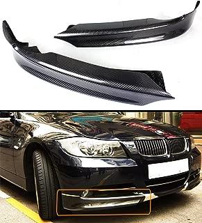 2 PC Carbon Fiber Front Lip Splitter Fits for 2006-2008 BMW E90 E91 3 Series 4 Door Sedan W/Regular Bumper