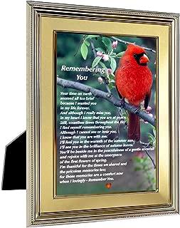 Sympathy Gift Remembering You Poem Cardinal Print